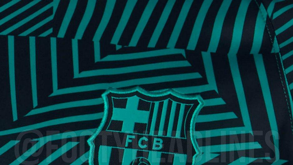 Insolite : le prochain maillot d'entraînement de Barcelone sera zébré turquoise !
