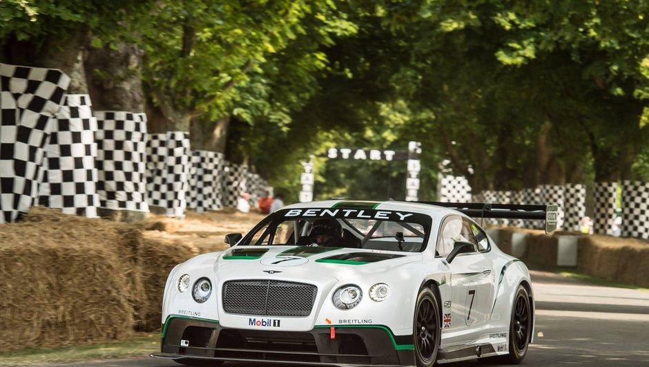 Bentley Continental GT3 : débuts officiels au Festival Of Speed Goodwood
