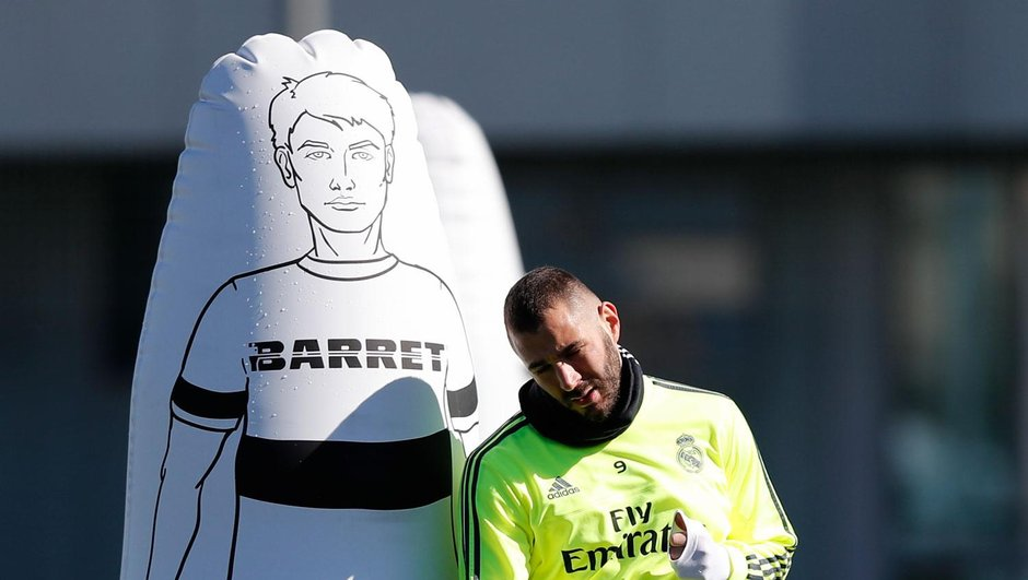 Karim Benzema flambe à l'entraînement