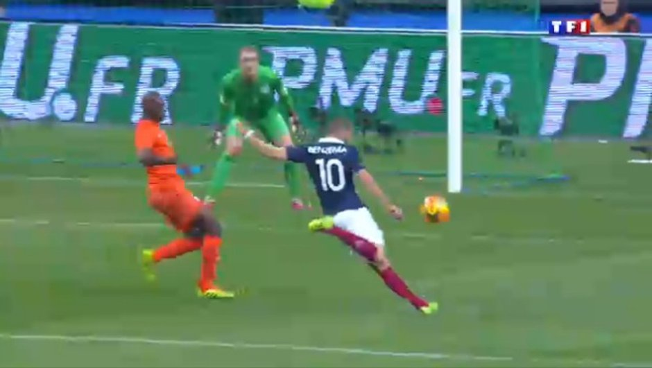 France - Pays-Bas : but de Benzema en vidéo, 1-0 (32e)