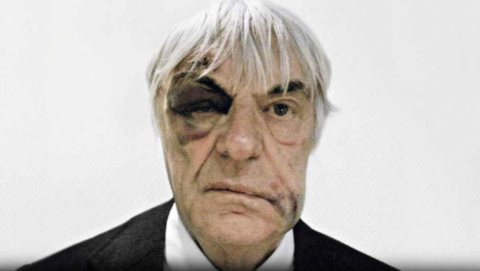 Bernie Ecclestone s'amuse en photo de son agression