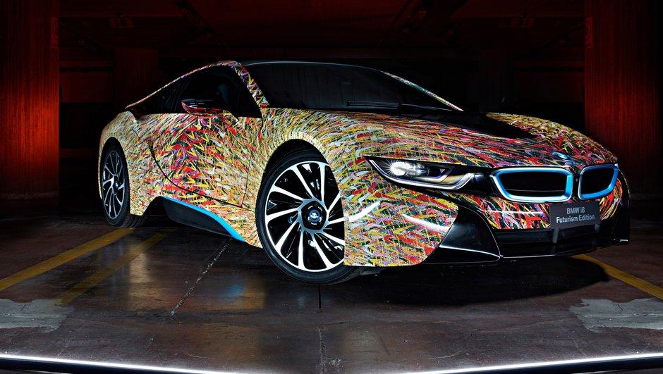 BMW i8 Futurism Edition 2016 : l'hybride en voit de toutes les couleurs
