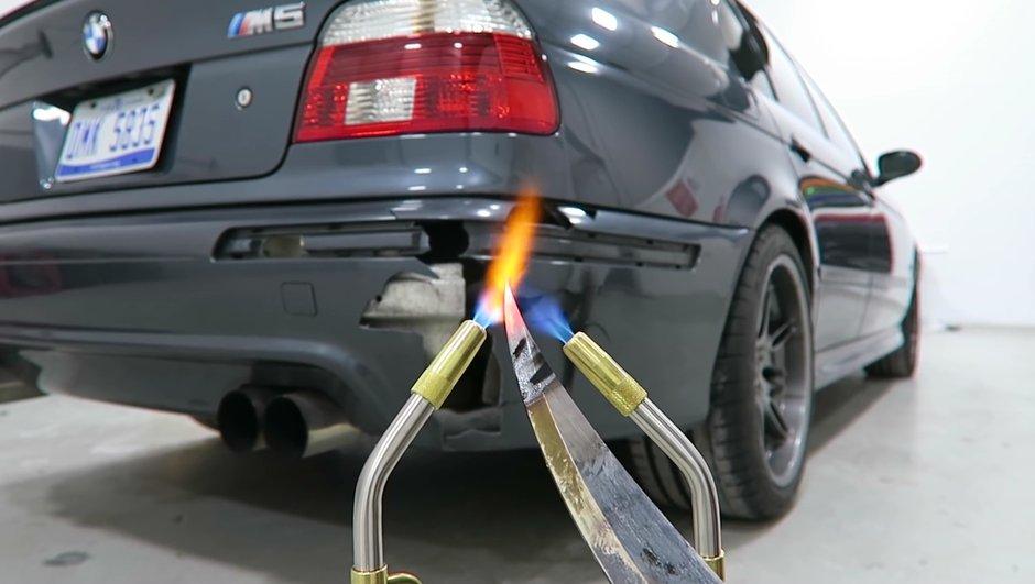 Insolite : Il découpe sa BMW M5 pour faire le buzz