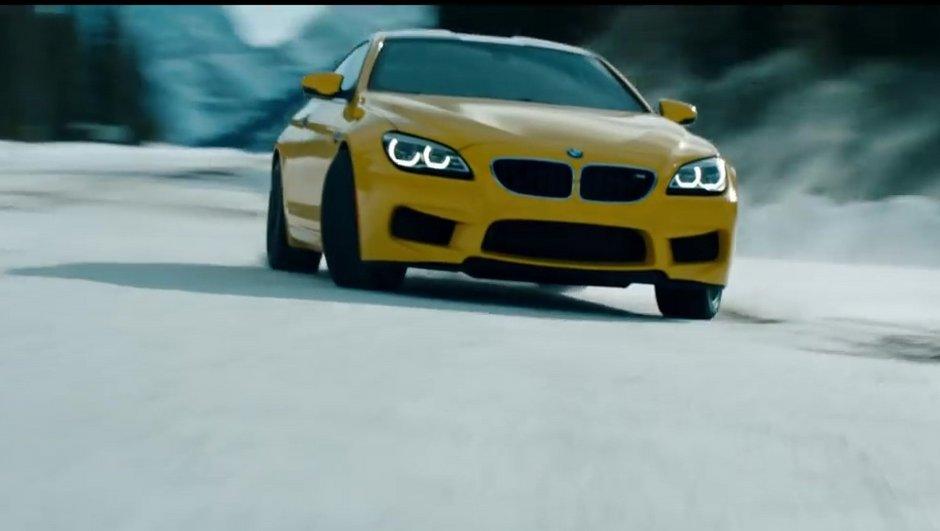 Vidéo insolite: une BMW M6  en pleine glisse sur la neige