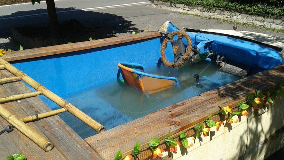 Insolite : Ivre, il roulait dans une piscine roulante BMW