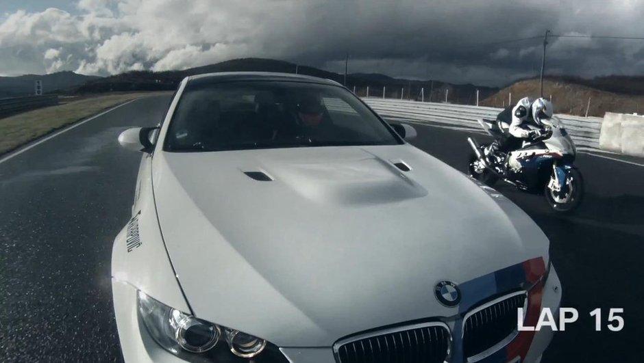 Duel Moto vs Auto : BMW M3 contre S 1000 RR en vidéo