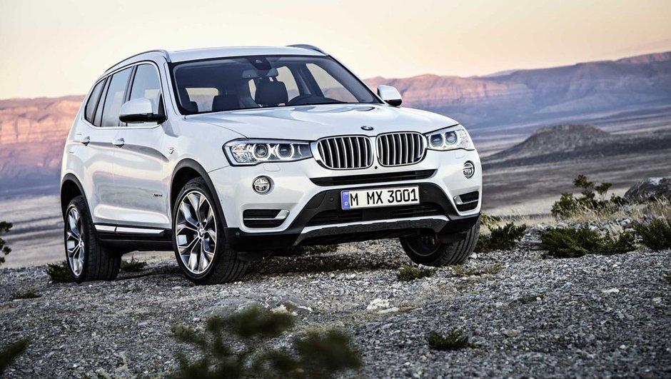 BMW X3 2014 : des phares étirés et deux nouveaux moteurs diesel