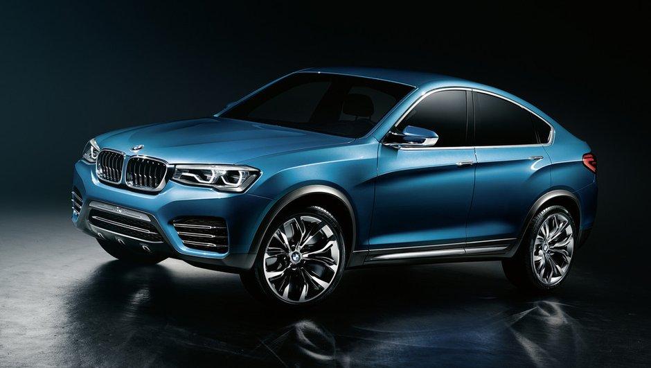 BMW X4 Concept à l'aube du Salon de Shanghai