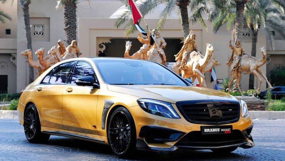Tuning : Une Mercedes-Benz Classe S de 900 ch habillée or par Brabus