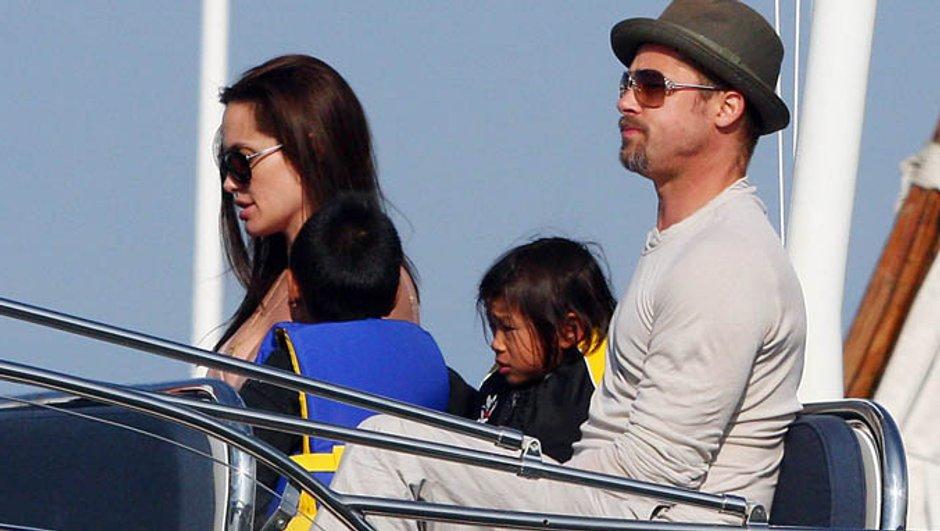 Brad Pitt et Angelina Jolie en famille à Malte