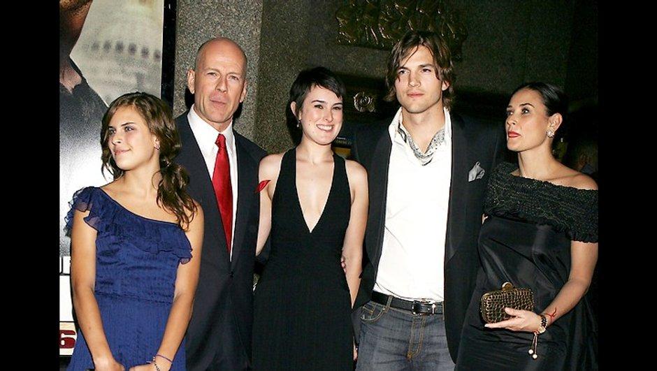 Ashton Kutcher était jaloux de Bruce Willis, l'ex mari de Demi Moore !