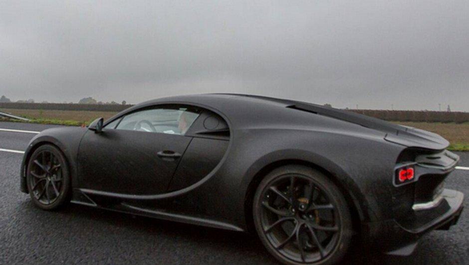 Scoop : la future Bugatti Chiron encore surprise en photo