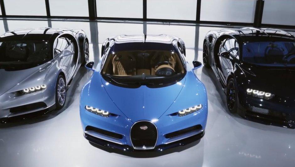 Bugatti dévoile les 3 premiers exemplaires de la Chiron… avant un nouveau modèle ?
