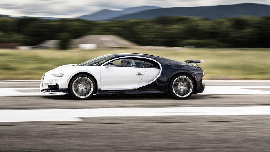 Bugatti Chiron : un 0-400-0 km/h en seulement 60 secondes