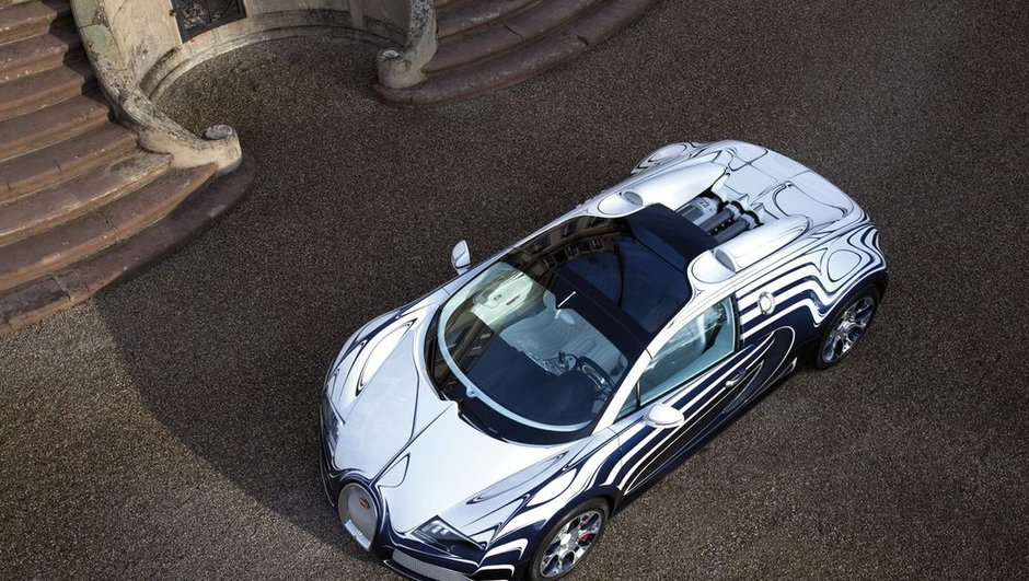Bugatti Veyron Grand Sport l'Or Blanc : Porcelaine inside