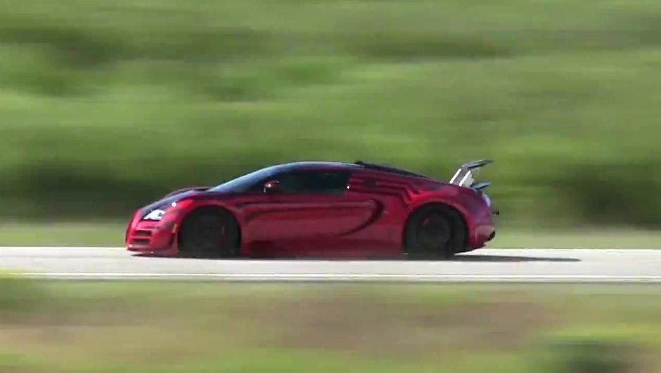 Vidéo Insolite : Une Bugatti Veyron à près de 380 km/h sur route