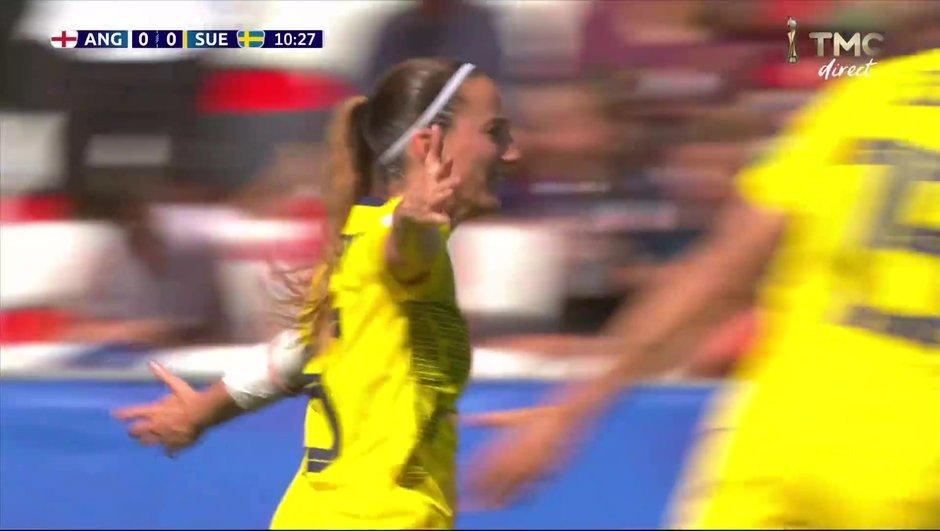 Angleterre-Suède : L'ouverture du score d'Asllani en vidéo