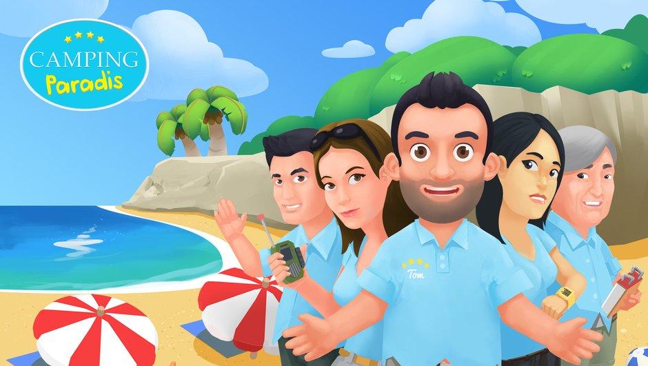 Le jeu vidéo Camping Paradis débarque sur mobiles !
