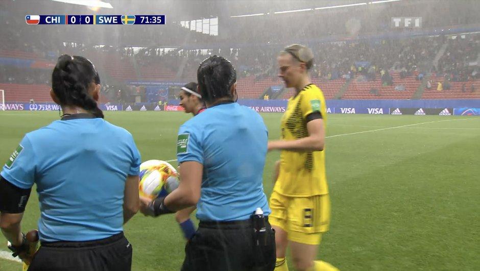 La rencontre Chili-Suède stoppée 42 minutes par l'orage
