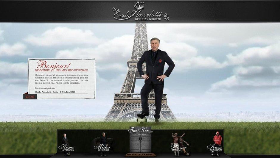 Insolite-PSG : Ancelotti ouvre son site internet