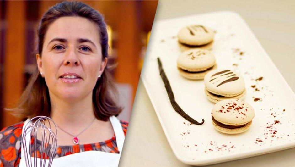 Macarons  chocolat vanille, par Carol