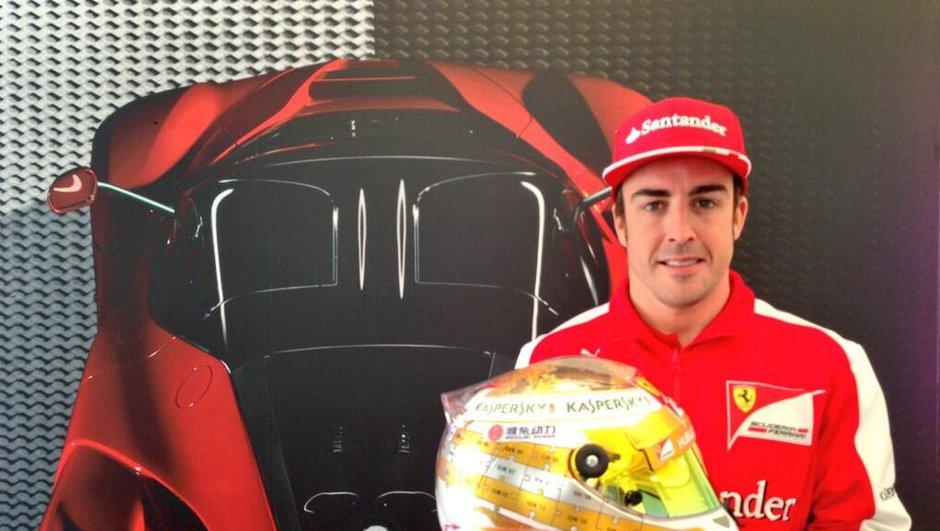 Un nouveau casque pour Alonso au GP de Monaco