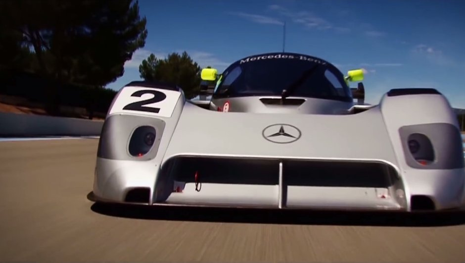 La Mercedes C291 de Michael Schumacher reprend la piste