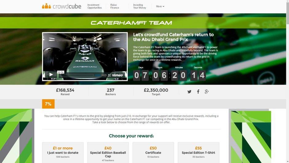 F1 : Caterham lance un appel aux dons pour participer au GP d'Abu Dhabi