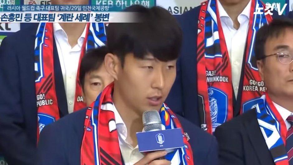 VIDÉO - Les Coréens du Sud accueillis au pays par des jets d'oeufs