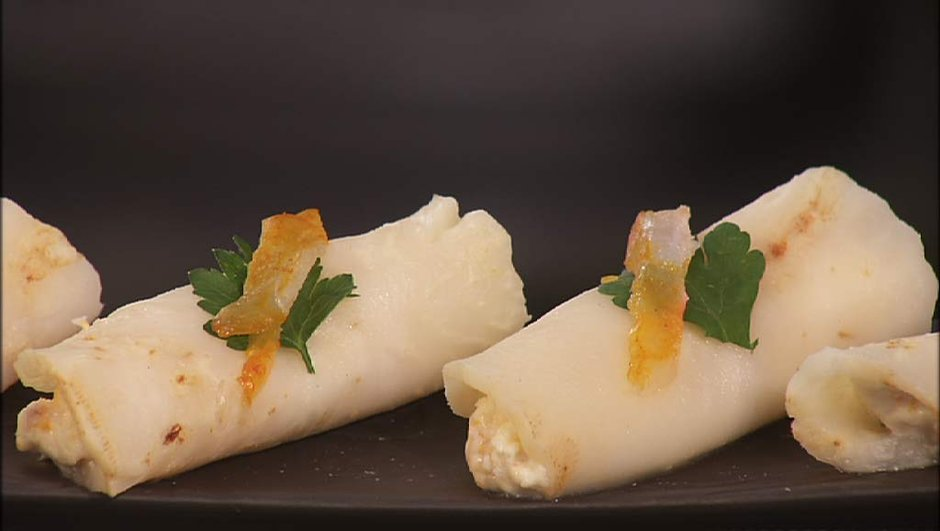 Cannellonis de céleri au haddock