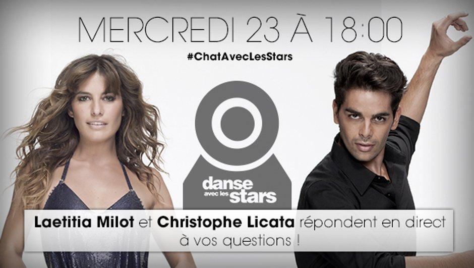 Danse avec les stars : discutez en direct avec Laetitia Milot et Christophe Licata !