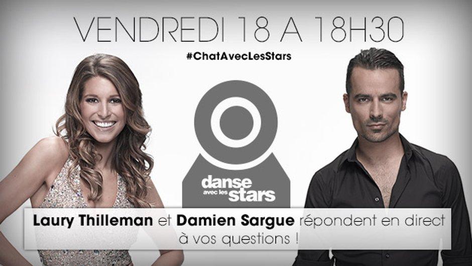 Chattez avec Damien Sargue et Laury Thilleman Vendredi 18 à 18h30 !