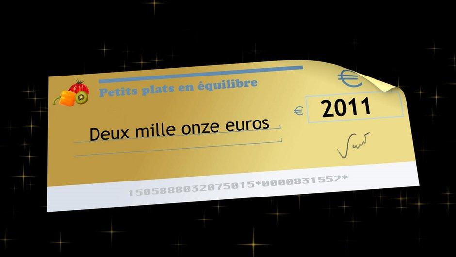 5 chèques de 2011 euros !