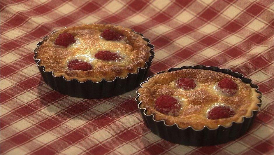 Tartelettes soufflées au chocolat blanc et framboises