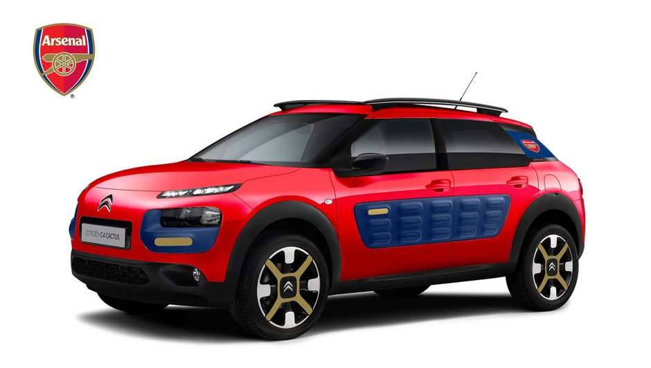 Citroën : Le C4 Cactus aux couleurs du club d'Arsenal