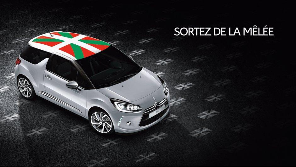 """DS 3 """"Régions"""" : un toit Basque, Corse voire Breton en option !"""