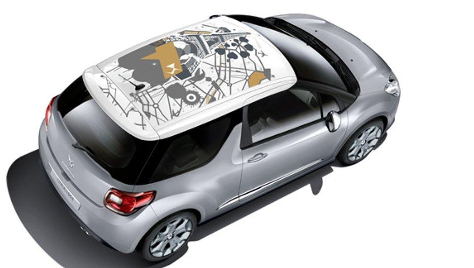 La Citroën DS3 propose 3 nouveaux adhésifs de toit