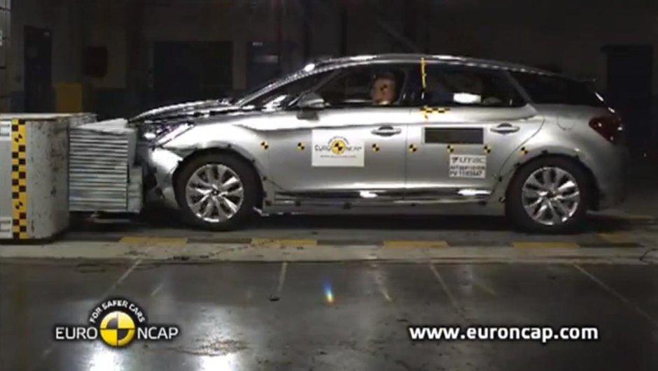 Vidéo : Le Citroën DS5 remporte 5 étoiles au crash-test