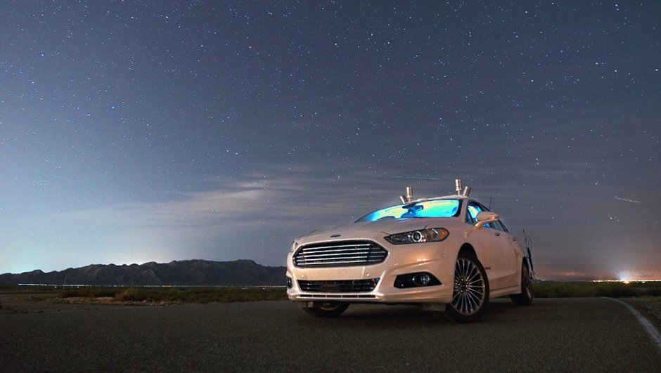 Vidéo Insolite : les voitures autonomes de Ford dans l'obscurité totale