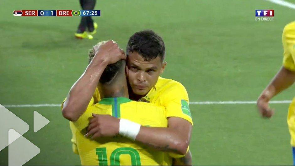 VIDEO - Serbie - Brésil (0-2) : le but do Brasil 100% PSG de Neymar et Thiago Silva