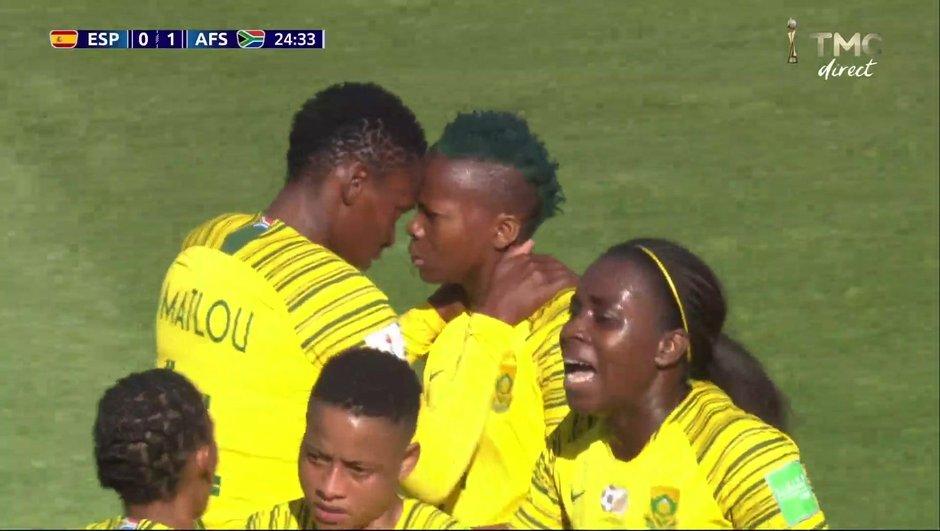 Espagne-Afrique du Sud (0-1) : La superbe ouverture du score de Kgatlan en vidéo