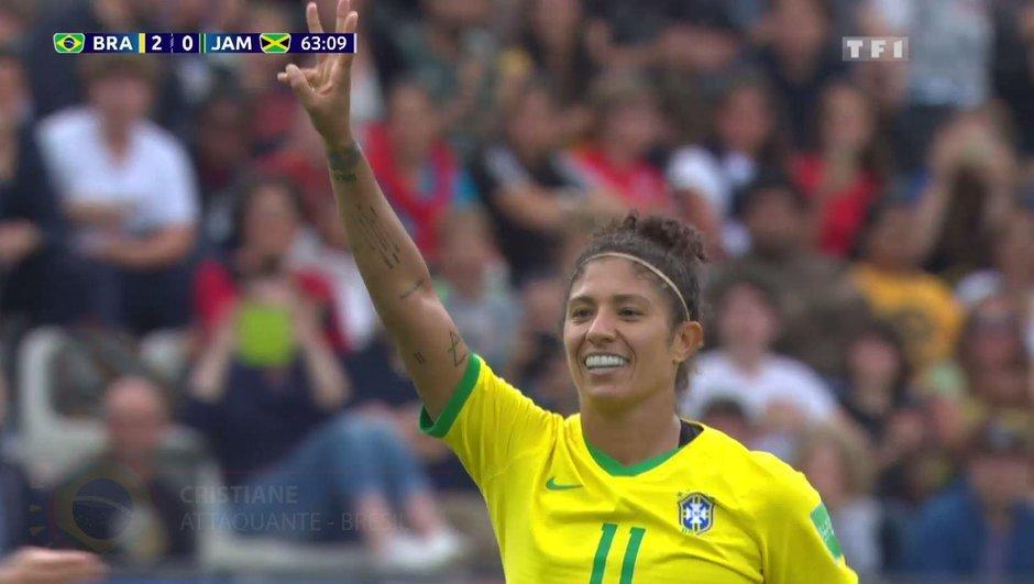 Brésil-Jamaïque (3-0) - Cristiane inscrit un triplé et porte la Seleção