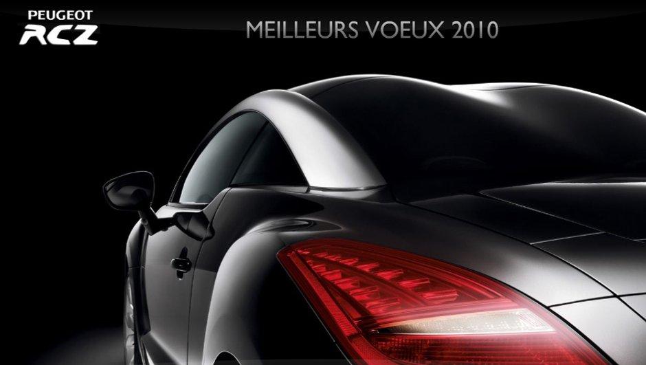 Souhaitez la bonne année avec une carte virtuelle Peugeot RCZ !