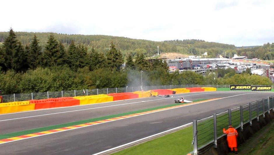 Vidéo : le crash de Leimer en GP2 à Spa-Francorchamps