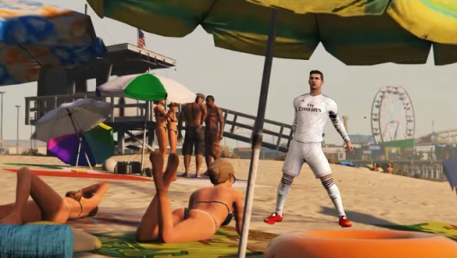 Vidéo insolite : Cristiano Ronaldo dans GTA 5 !