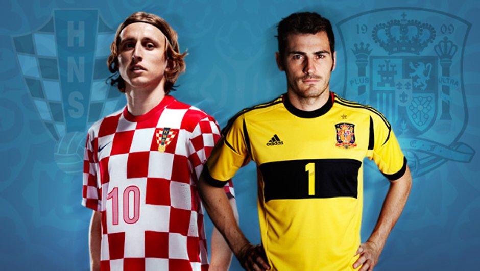 Euro 2012 : l'Espagne et la Croatie ont rendez-vous