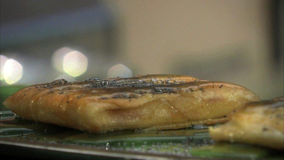 Croustillant de féta et graine de pavot au miel