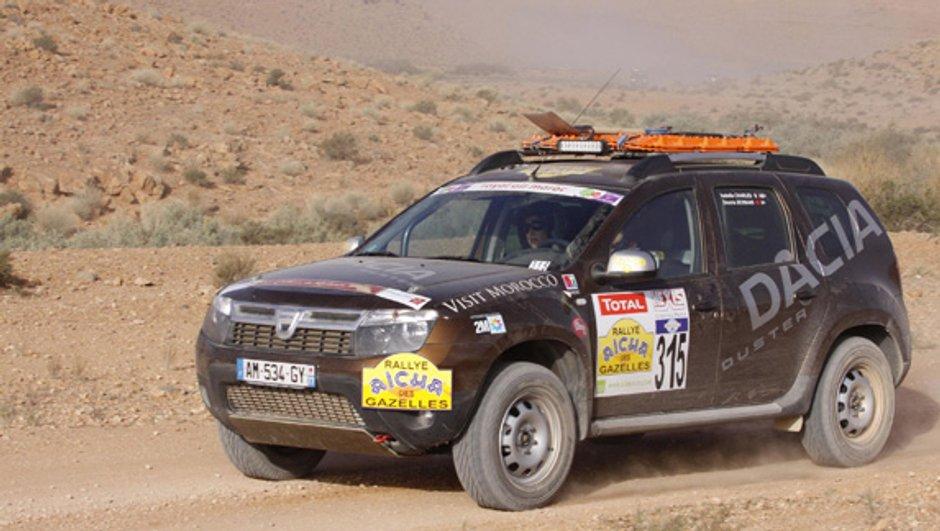 Le Dacia Duster fait sa pub au rallye Aïcha des Gazelles