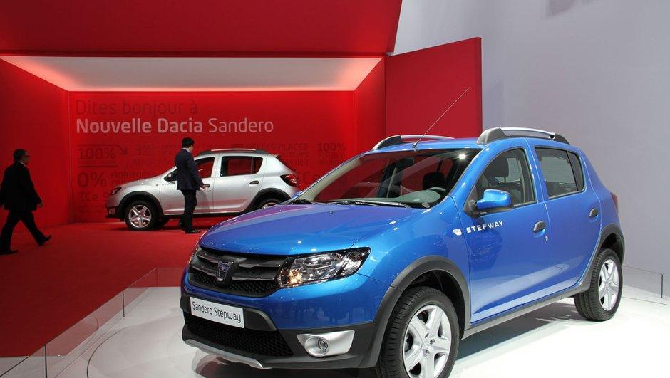 Mondial de l'Auto 2012 : Dacia Logan et Sandero remis au goût du jour