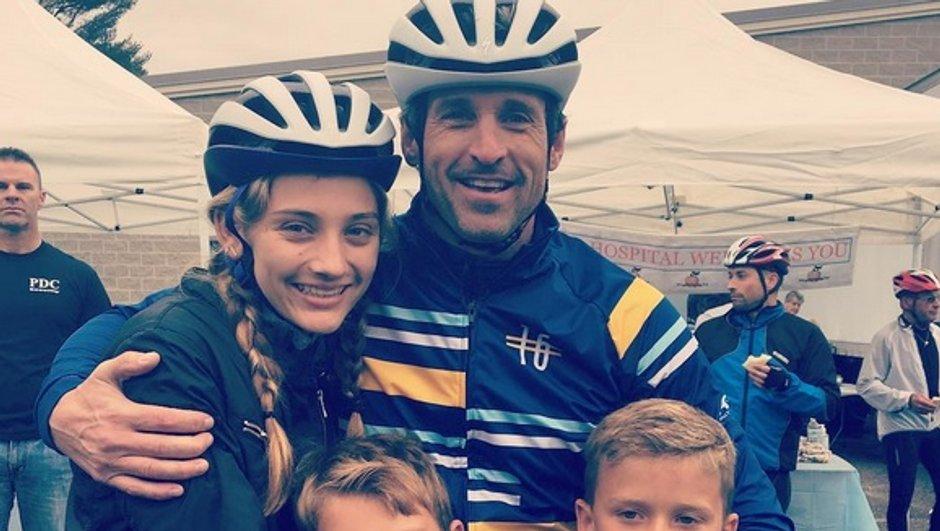 Patrick Dempsey participe à une course en famille pour la bonne cause
